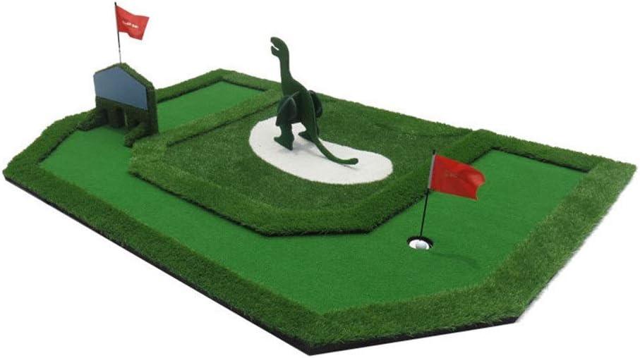ゴルフ練習用パターマット ゴルフ子供の夢グリーンミニグリーンフェアウェイトレーニングセットトレーニングマット補助機器ギフト用キッズユース屋内エクササイザー (色 : 緑, サイズ : 363cm×198cm) 緑 363cm×198cm