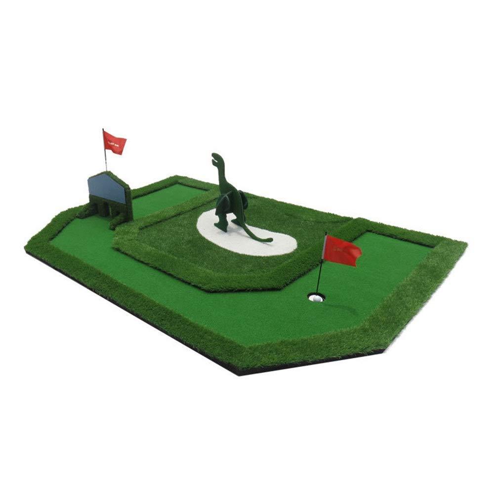 屋内ゴルフグリーンマット ゴルフ子供の夢グリーンユース屋内エクササイザーミニグリーンフェアウェイトレーニングセットトレーニングマット援助機器ギフト用キッズ ゴルフパターパッド (色 : 緑, サイズ : 363cm×198cm) 緑 363cm×198cm