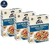 Quaker Oatmeal Squares, Cinnamon, 3ct