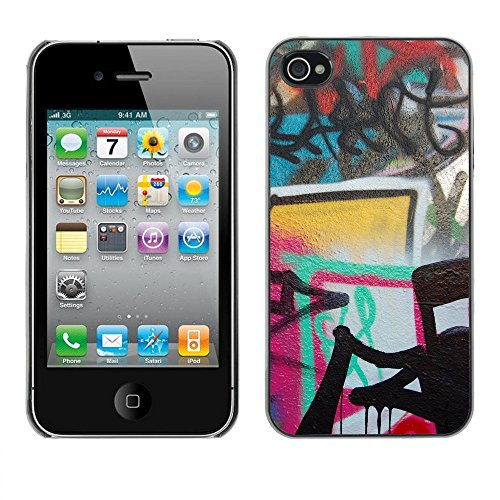Premio Sottile Slim Cassa Custodia Case Cover Shell // V00002358 Graffiti_Fotor // Apple iPhone 4 4S 4G