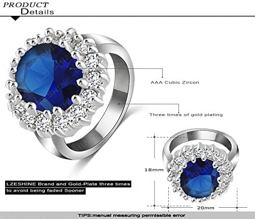 Gemmart Allergy Single Women Stainless Steel cz engagement ring fashion jewelry rings