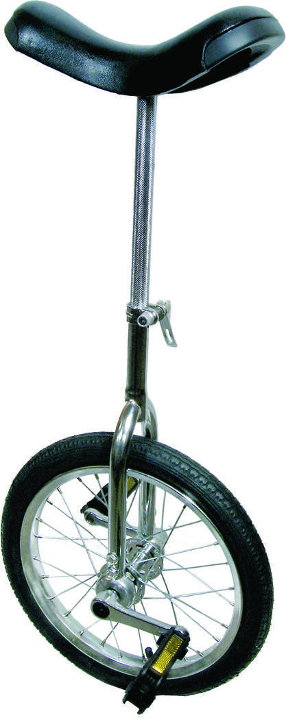 Action 16X1.75'' Chrome Unicycle
