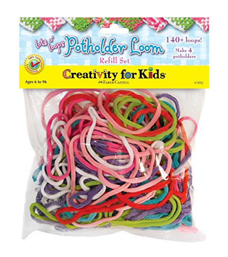 Creativity for Kids Lots O' Loops Potholder Loom Refill Kit - 140 Loops for Weaving