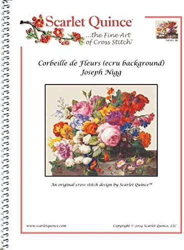 Regular Size Symbols Scarlet Quince NIG001 Corbeille de Fleurs by Joseph Nigg Counted Cross Stitch Chart