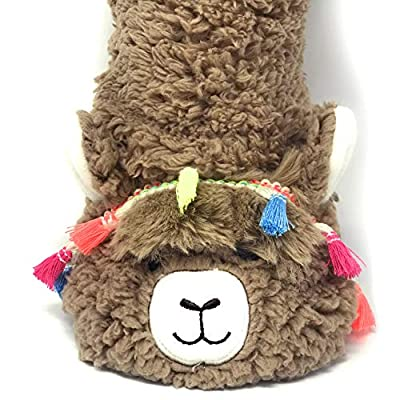 OoohYeah Women's Super Soft Pet Llama Call You Sherpa Slippers One Size: Clothing
