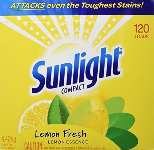 Sunlight 4.42-Kgs Lemon Fresh Powder Laundry Detergent, 120 Wash Loads