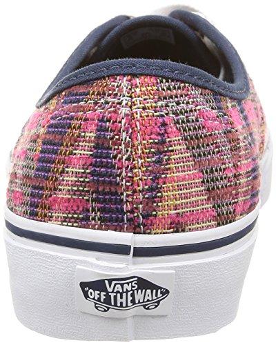 White Vans True U Multicolore Chevron Authentic Pink Unisex Woven Sneakers 1zU1H8