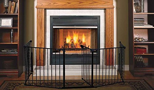 GHP Heavyduty Tubular Steel 122″W x 30″H Free-Standing Indoor Safety Gates