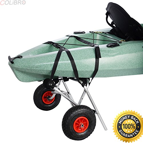 Package Jon Boat (COLIBROX--New Aluminum Kayak Jon Boat Canoe Gear Dolly Cart Trailer Carrier Trolley Wheels. Solid aluminum frame. Large Load capacity. best Gear Dolly Cart sale on amazon. bass pro deer cart)