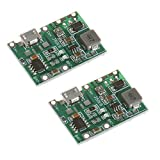 Anmbest 2PCS 3.7V 18650 Lithium Battery Charging Discharge 4.5V-8V to 4.3V-27V Adjustable Step Up Integrated Module