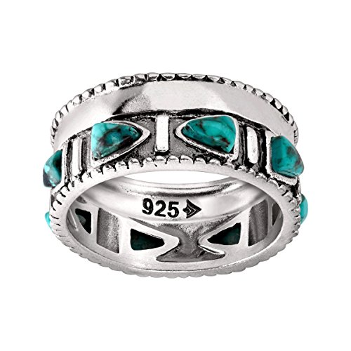 Navajo Turquoise Ring - Silpada 'Trailblazer' Compressed Turquoise and Sterling Silver Ring