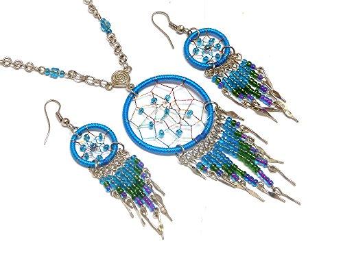 Mia Jewel Shop Dream Catcher Long Beaded Dangle
