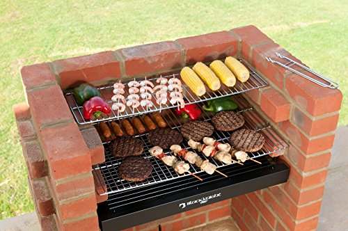 401 Brick (Black Knight 401 Brick Built in BBQ Grill Kit with Warming Rack)