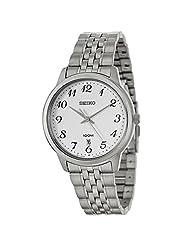 Seiko Men's SUR041 Silver Tone 100m Date Stainless Steel Watch [Watch]