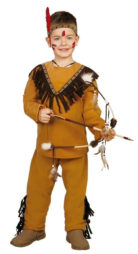 indiana vestito da carnevale  Guirca Costume da Indiano Pellerossa, Colore Marrone, 10-12 Anni ...