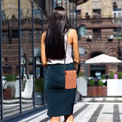 Hdadwy mobiltelefon crossbody väska hund med stora ben kvinnor PU-läder mode handväska med justerbar rem