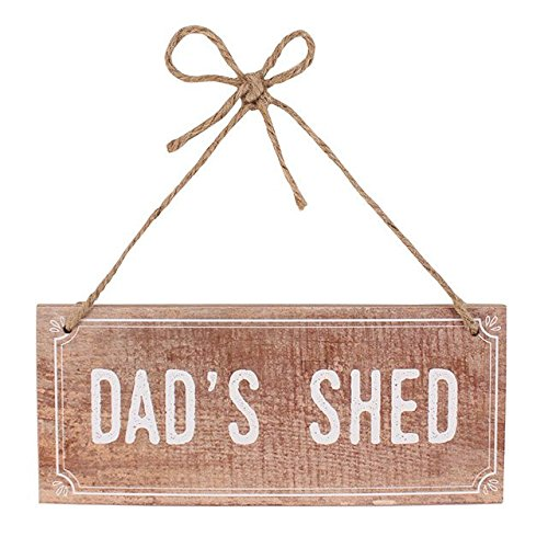 Jones Home and Gift Wall Plaque Brown Rustic 'Dad's Shed' Wooden Hanging Sign