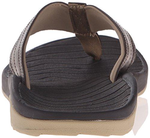 Rev Mens Swellular Kudde Lux Sandal Brun / Gummi