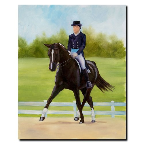 Michelle Moate Horse - Trademark Fine Art Horse of Sport IX by Michelle Moate Canvas Wall Art, 18x24-Inch
