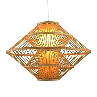Iluminación Luz De Techo Lámpara Colgante Gran Bambú Mimbre ...