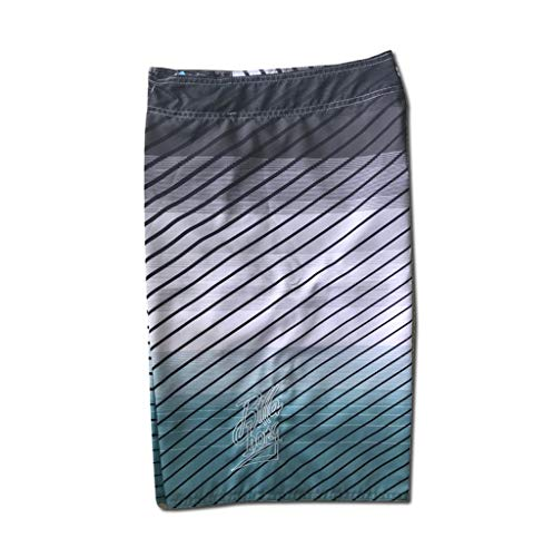 NUWFOR Men's Fashion Casual Printing Patchwork Beach Surfing Swimming Loose Short Pants(Gray,US S Waist:30.7'') by NUWFOR (Image #3)