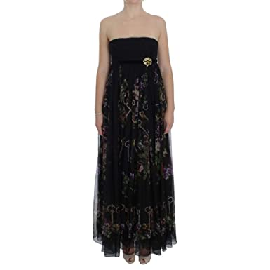 07846422 Amazon.com: Dolce & Gabbana Black Key Print Silk Crystal Brooch ...