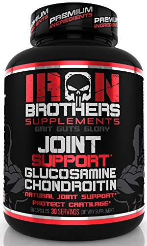 Joint Support - 1500mg Glucosamine Chondroitin MSM Turmeric - Anti Inflammatory Formula Pain Relief Supplement MSM, Boswellia for Men & Women - Non GMO - 90 Veggie Capsules - 30 Servings
