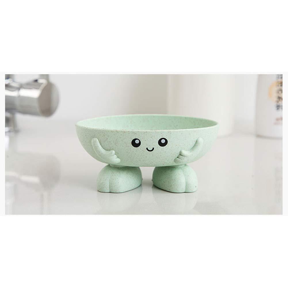 1pcs Cute Cartoon Soap Box Creativo Alta Inferiore Portasapone Portasapone Sapone Contenitore Della Scatola Per Cucina E Bagno Beige