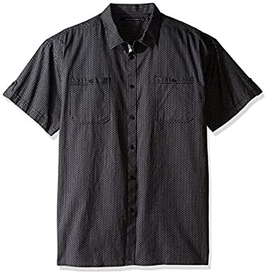 Sean John Men's Big and Tall Shortleeve Dobby Stripe Shirt