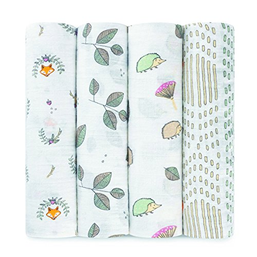 aden-anais-classic-muslin-swaddles-4-pack-woodland-pals