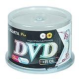 RIDATA PRO-INKJET WHITE HUB PRINTABLE DVD+R DL 8X - CAKEBOX 50 PC/600 PCS PER CARTON