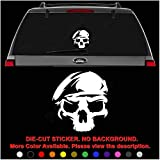 U.S. Army Ranger Death Skull Die Cut Vinyl Decal Sticker for Car Truck Motorcycle Vehicle Window Bumper Wall Decor Laptop Helmet Size- [12 inch] / [30 cm] Tall || Color- Gloss White