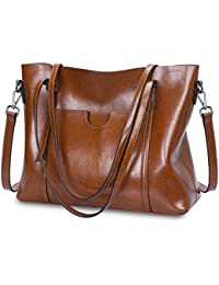 Women Genuine Leather Top Handle Satchel Daily Work Tote...