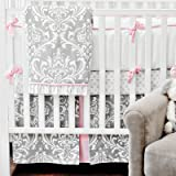 New Arrivals Stella Gray 3 Piece Crib Bedding Set, Grey