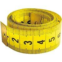 Cinta métrica costura amarilla. 150 x 2 cm.