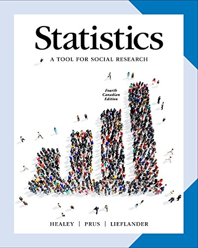 Statistics: A Tool for Social Researchers in Canada, 4ce