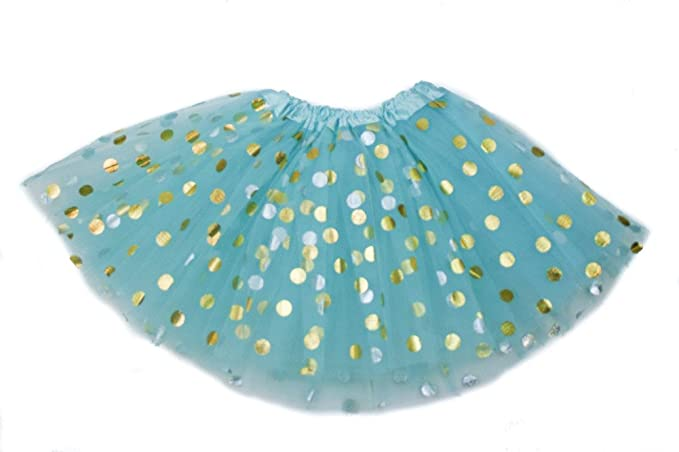 6e5f358e313d6 The Hair Bow Company Girl Gold Polka Dot Tulle Tutu Skirt 11