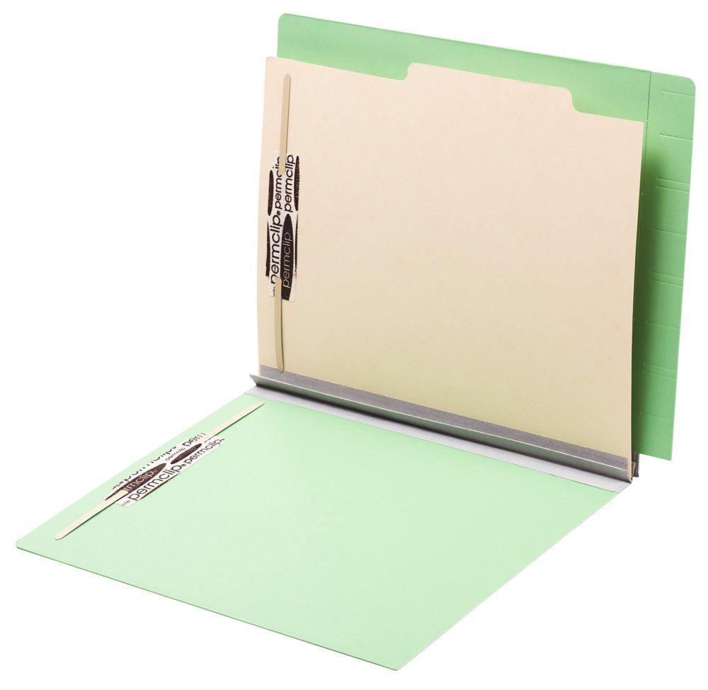TAB FORTIfile Pressboard Classification Folder 1 Divider Letter Size Expansion Mint Green 20/Box