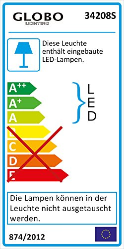 LED Steh Leuchte Au/ßen Beleuchtung Bewegungsmelder Edelstahl Stand Lampe Strahler Globo 34208S