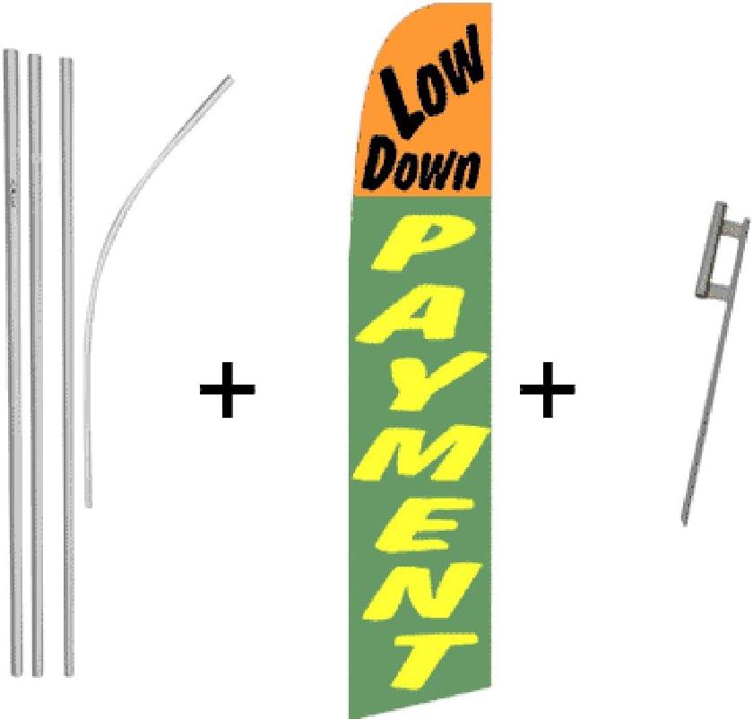 Low Down Payment Quantity 5 Super Flag /& Pole Kits
