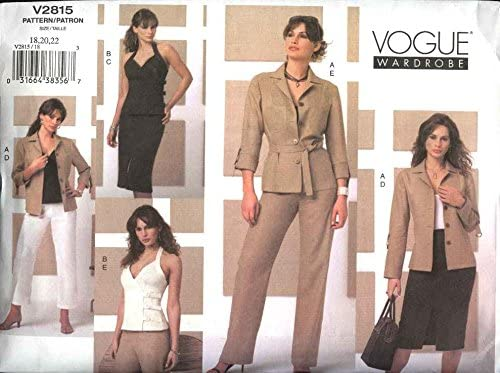 Vogue 1200 Misses/'//Miss Petite Jacket Jumper Top Skirt /& Pants Sewing Pattern