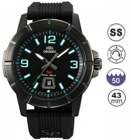 Orient Reloj Análogo clásico para Hombre de Cuarzo con Correa en Plástico FUNE9008B0