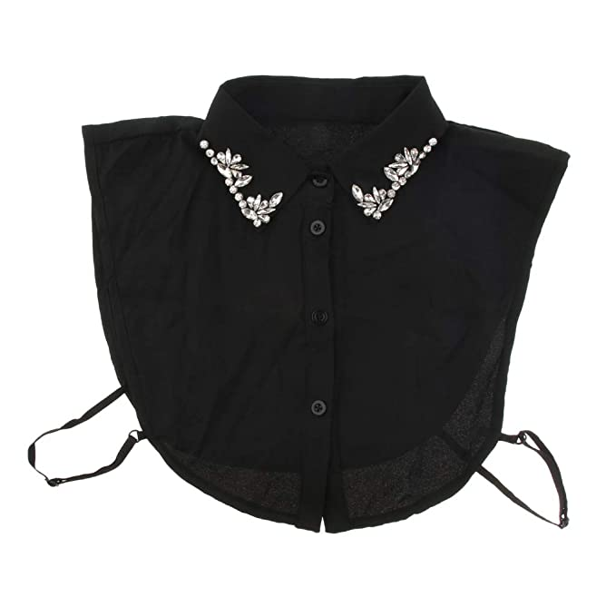 F Fityle Abnehmbare Bluse Halb Kragen Blusenkragen Krageneinsatz Bluseneinsatz für Frauen Mädchen