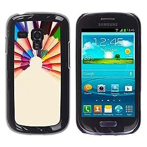 MOBMART Carcasa Funda Case Cover Armor Shell PARA Samsung Galaxy S3 MINI 8190 - The Colored Pencil Crayons