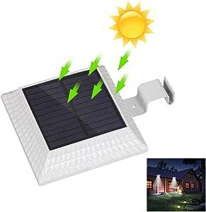 12 LEDs Solar Gutter Light with Motion Sensor Outdoor Lighting Spotlight Solar IP44 Waterproof for Street Yard Path