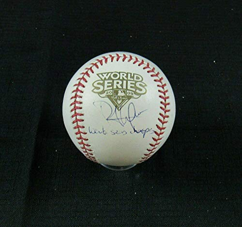 Autographed Phil Hughes Ball - Rawlings 2009 World Series B107 - Autographed Baseballs