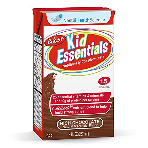Boost Kid Essentials 1.5 Nutritionally Complete Drink, Rich Chocolate, 8 fl oz Box, 27 (Boost Complete Care)