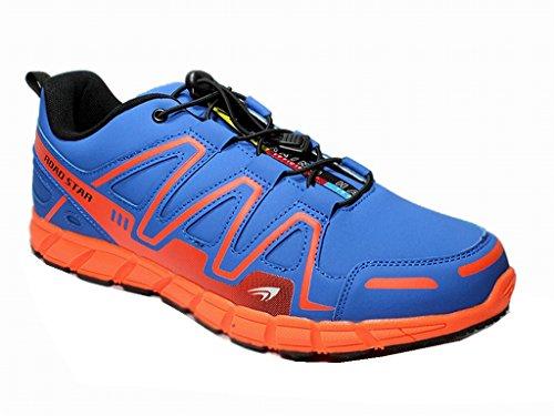 Unisex Übergröße Herren Turnschuhe Sneaker Runner Schnürschuhe Sportschuhe Shoes 47-49 Blau/Orange