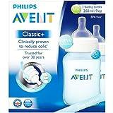 Philips Avent Biberon Classic+ anti-colique 260ml/9oz 2 x Bleu - 1+ mois