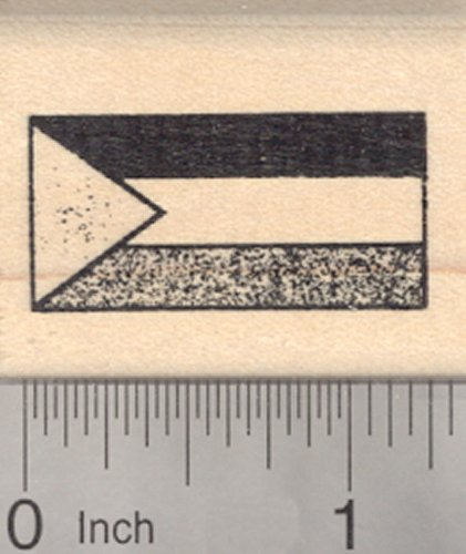 Flag of Palestine Rubber Stamp, Palestinian